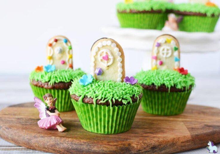 Super cute magical fairy door cupcakes