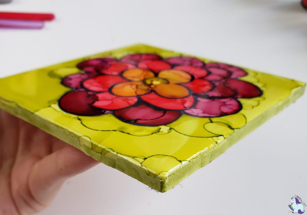 Mother's Day Flowers in alcohol ink - gallery wrapped edges