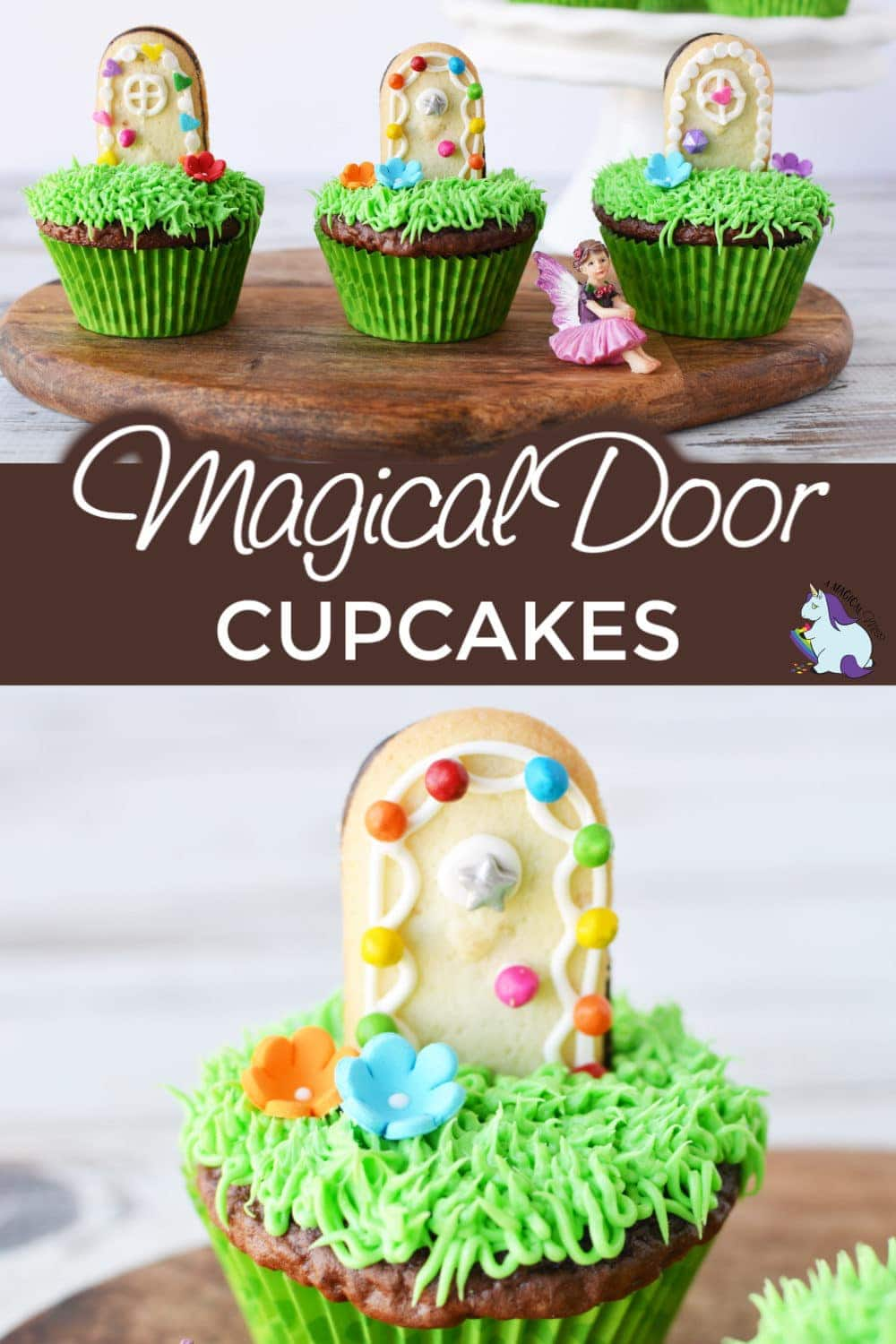 Easy Magical Door Cupcakes