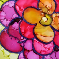 Mother's Day Craft - alcohol ink flowers