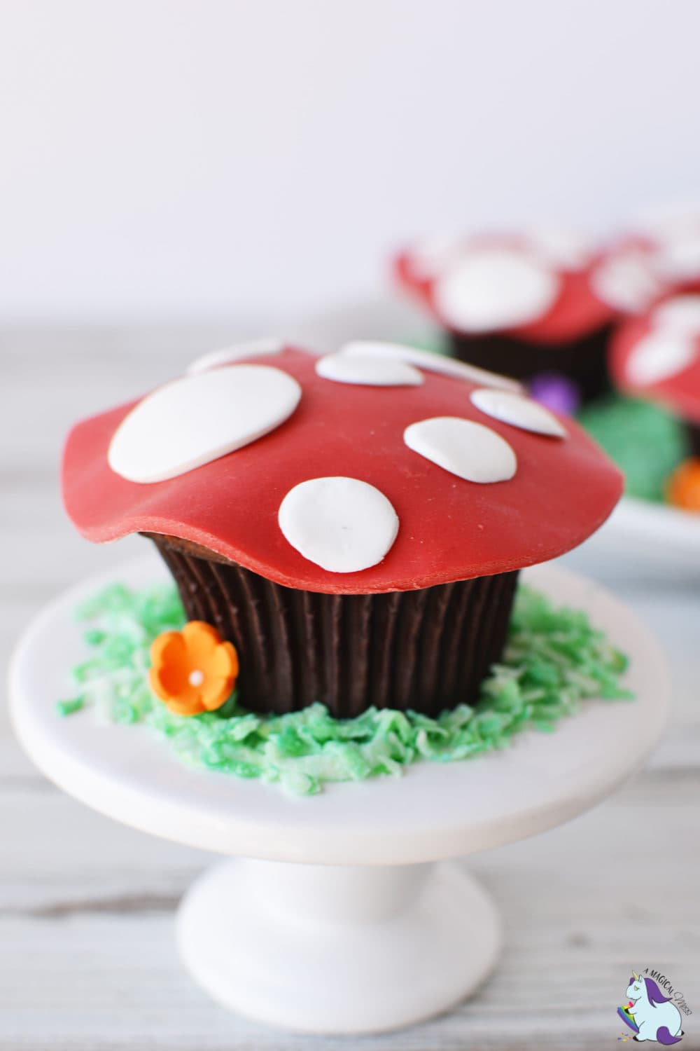red and white toadstool cupcakes