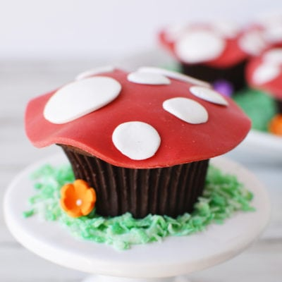 Magical Toadstool Cupcakes