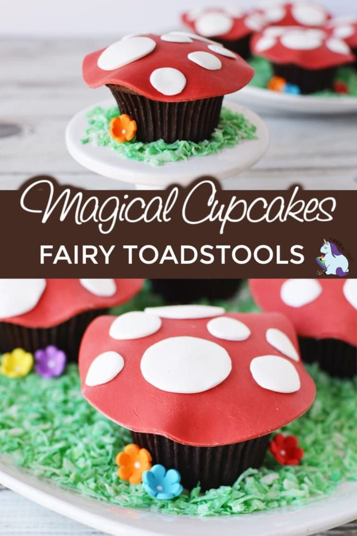 Toadstool cupcakes