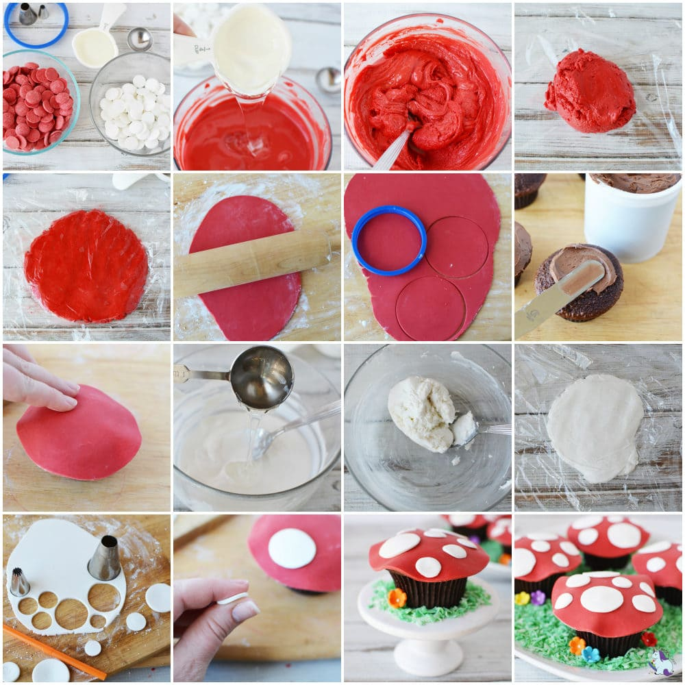 toadstool cupcakes recipe steps