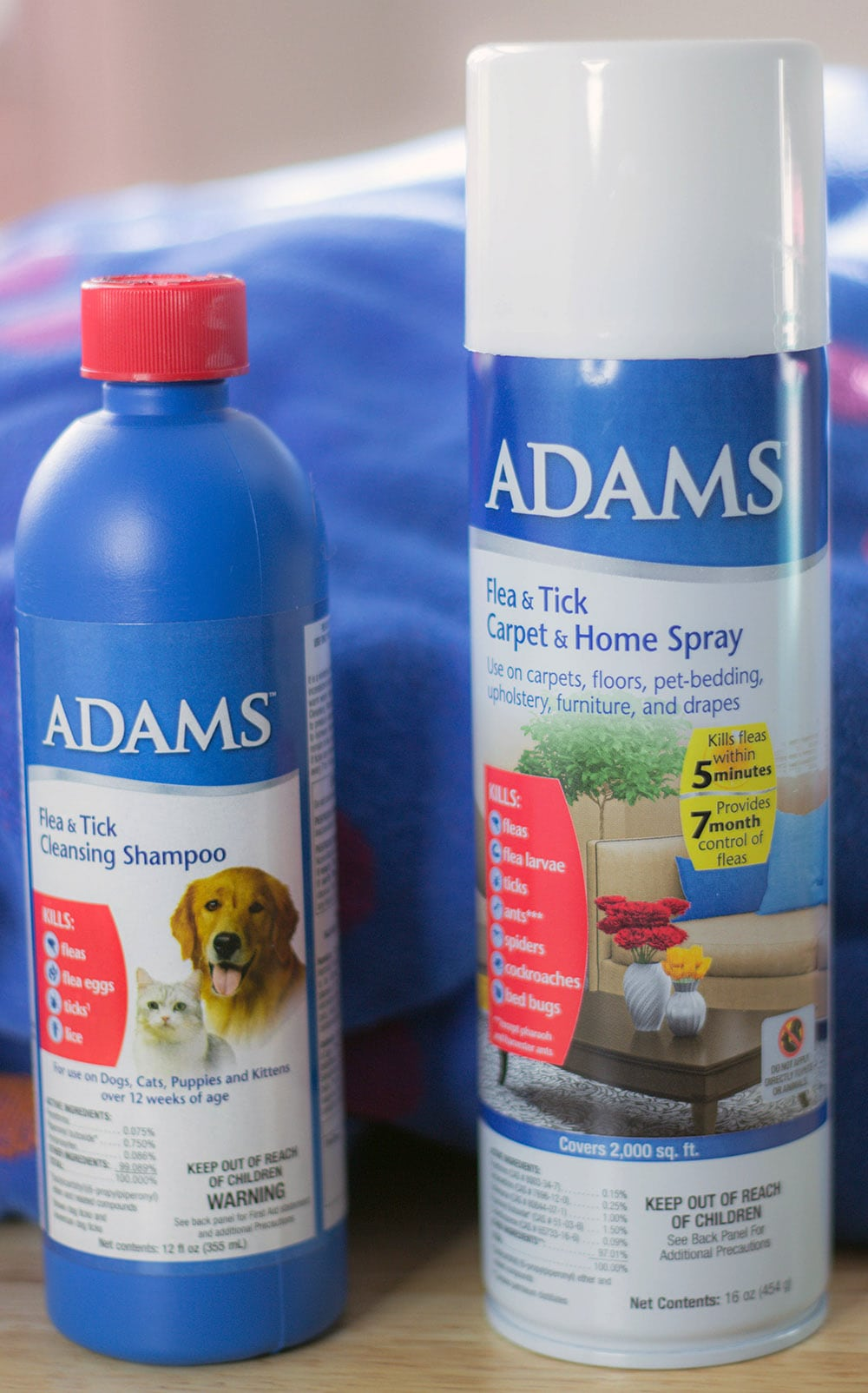 Adams Flea & Tick Shampoo and Spray for Home