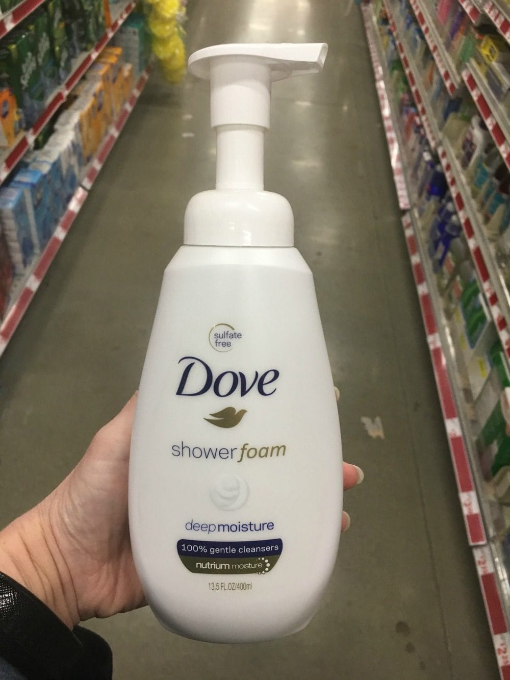 Dove shower foam found at Family Dollar