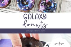 galaxy donuts on a cooling rack
