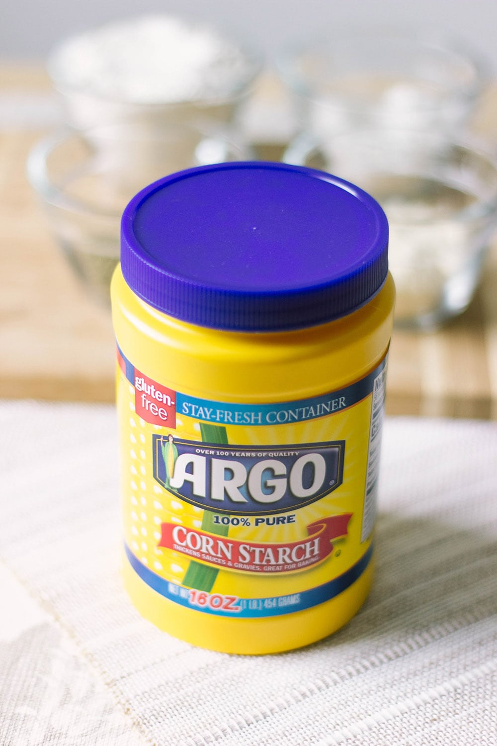 Tub of Argo Corn Starch