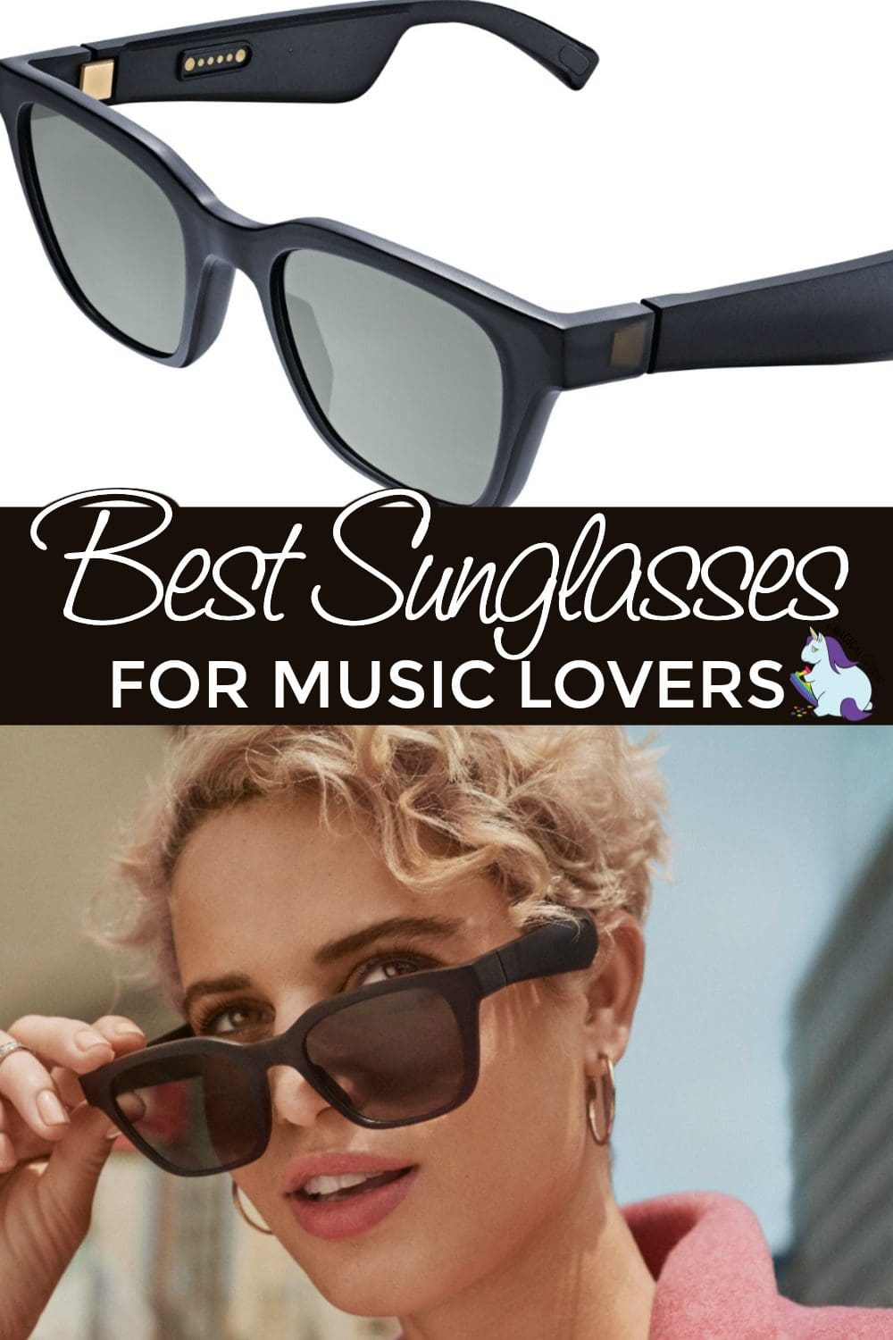 Bose Sunglasses and a person wearing them.
