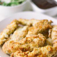Crispy chicken strips in the air fryer
