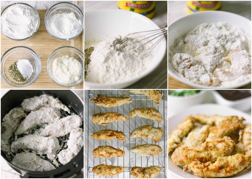 Steps to make crispy chicken strips