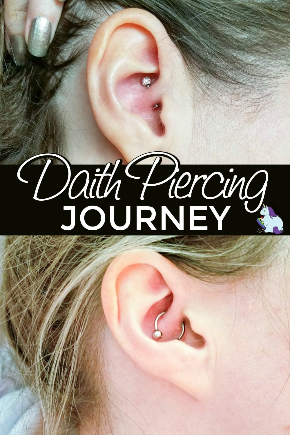 Ears with a daith earring in them.
