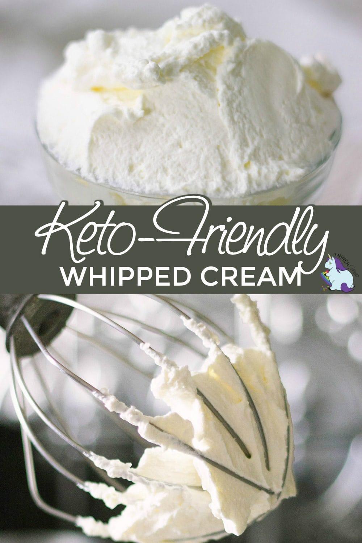 Keto-friendly homemade whipped cream