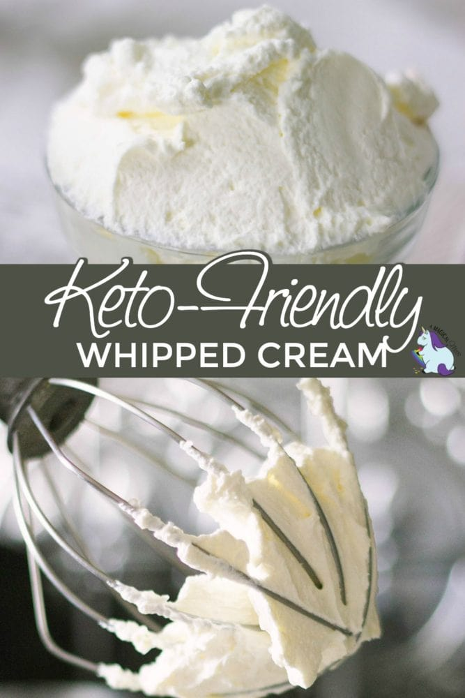 Keto-friendly homemade whipped cream