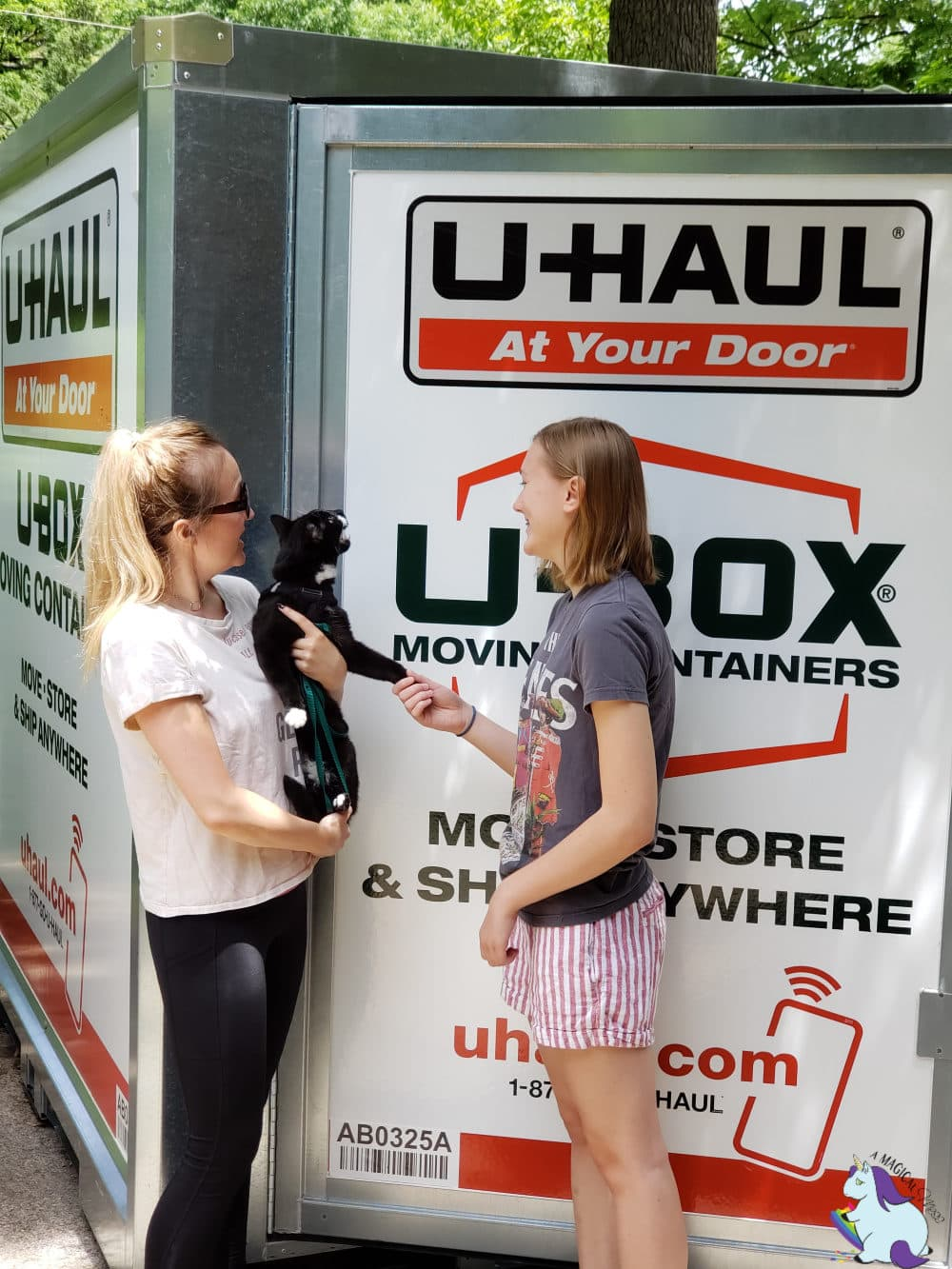 Moving with pets and U-Haul U-Box Containers