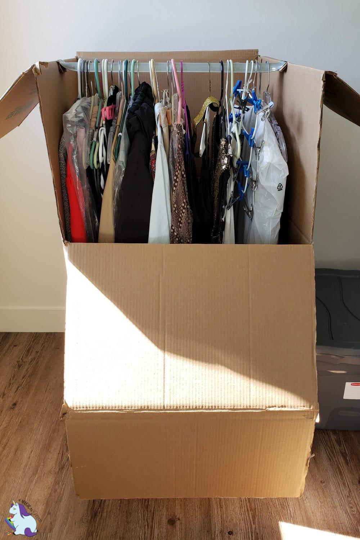 U-Haul Wardrobe boxes