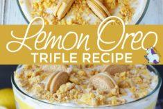 Lemon OREO cookies in a layered dessert.