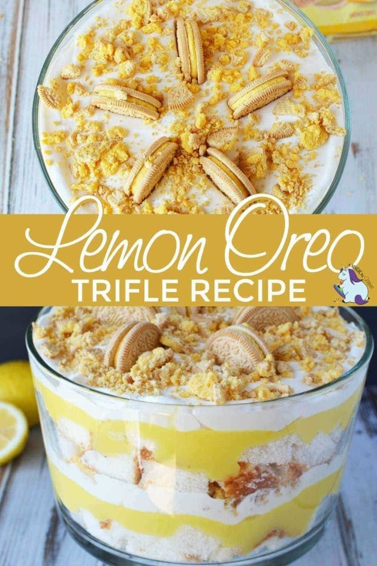 Lemon cookie trifle