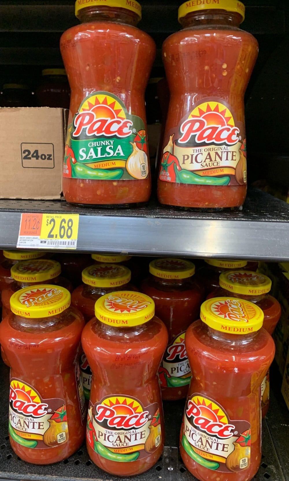 Pace salsa on the shelves of Walmart