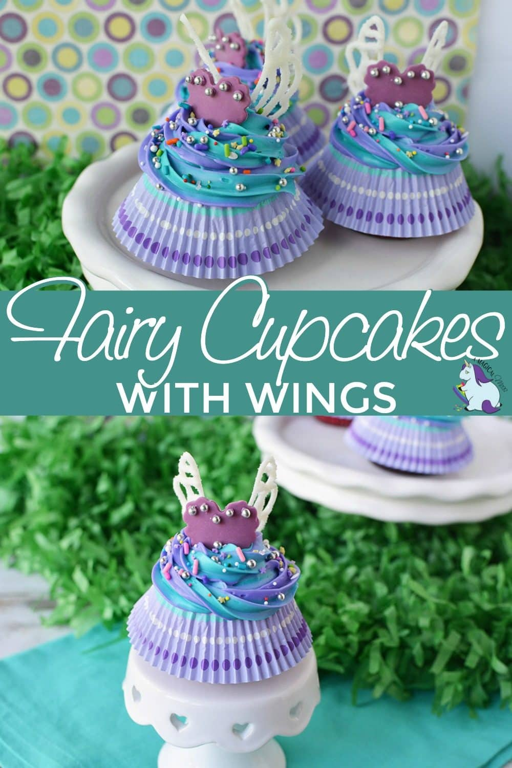 Cupcakes that look like fairies on a stand