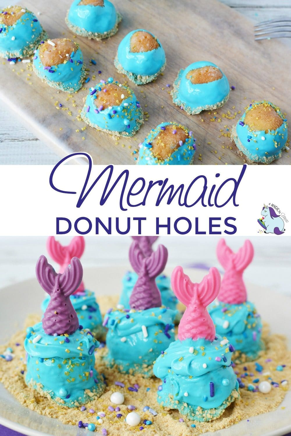 Donuts with mermaid decorations