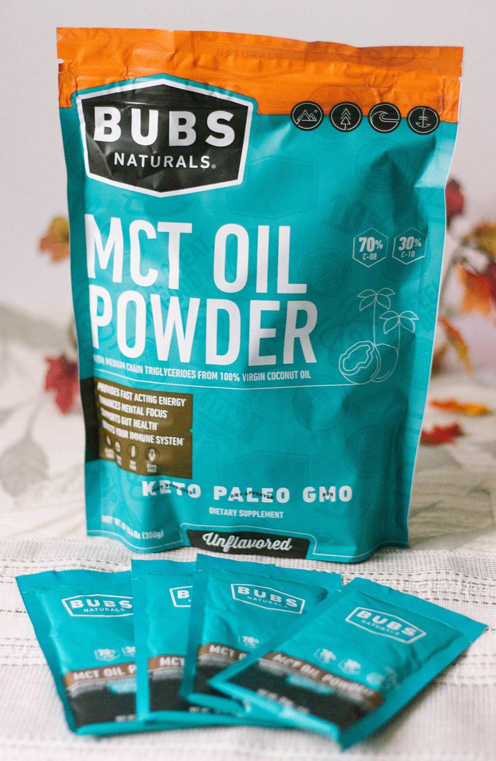 Bag of MCT Oil Powder