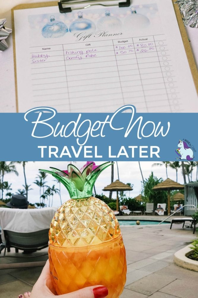 Budget sheet and pineapple drink