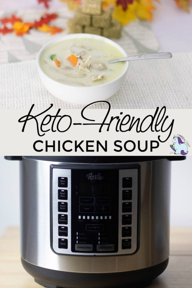 Bowl of chicken soup and the Fissler Multi Pot
