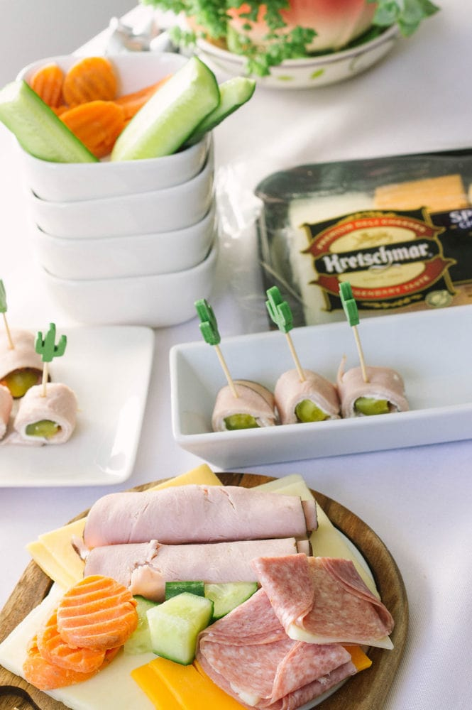 Meats and cheese snacks