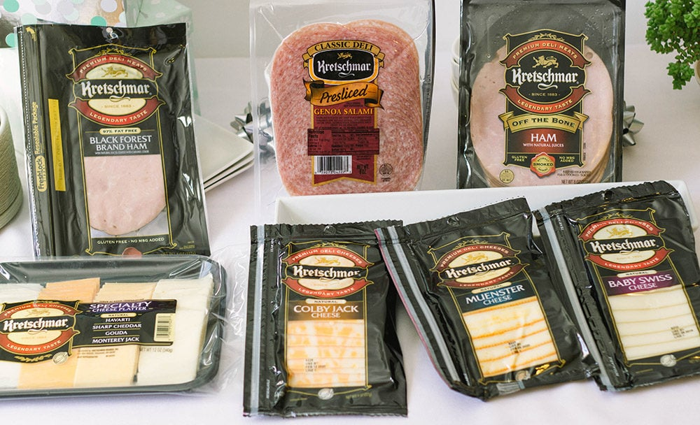 Packages of Kretschmar meats and cheese