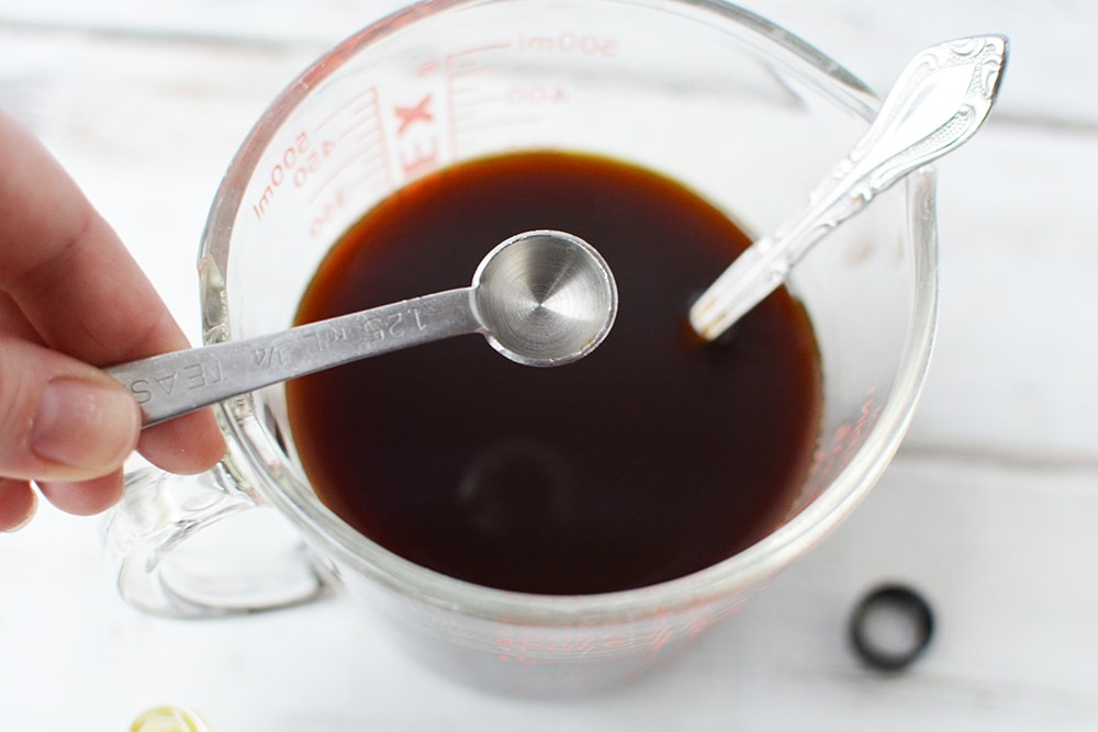 Peppermint oil into coffee