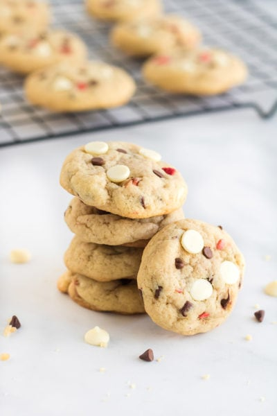 Cheesecake cookies stacked