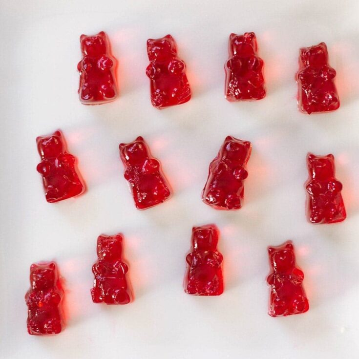 Cranberry gummy bears