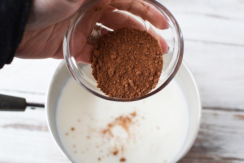 cocoa in a small bowl