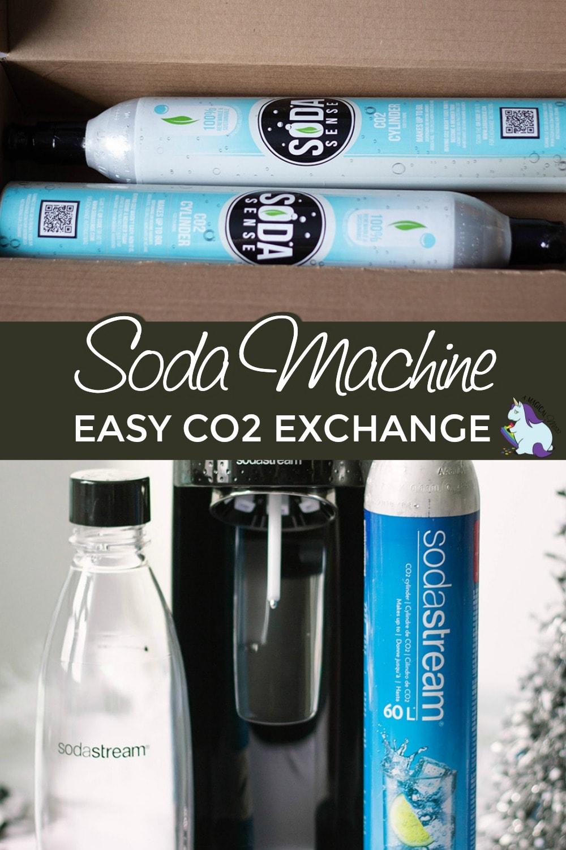 Soda Sense canisters and SodaStream machine