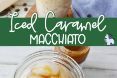 Glass of Iced Caramel Macchiato