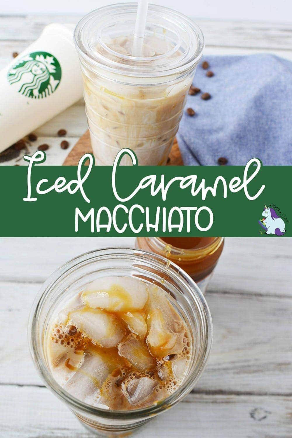 Glass of Iced Caramel Macchiato