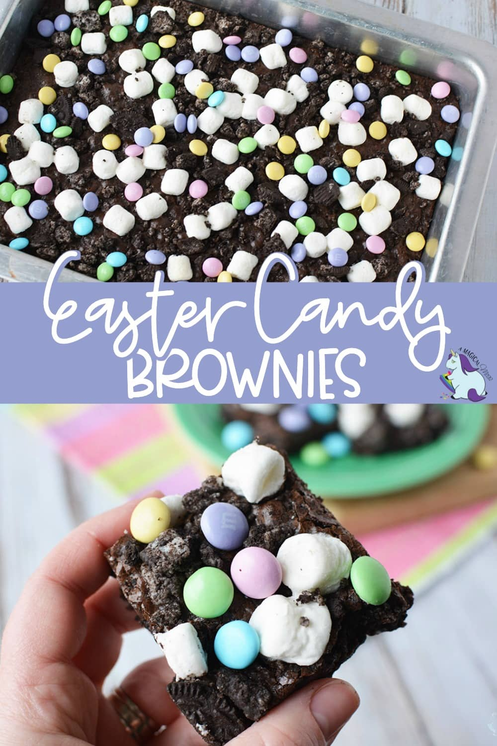 Brownies with Easter candy