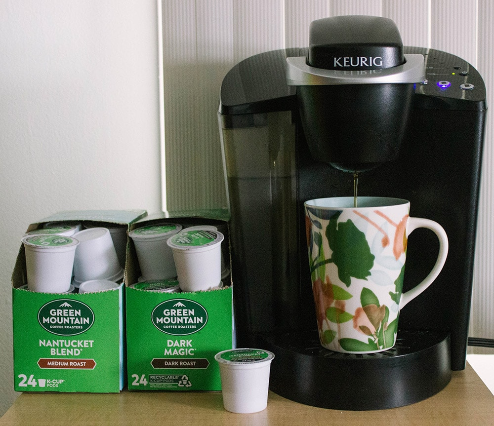 Brewing Green Mountain Coffee Pods