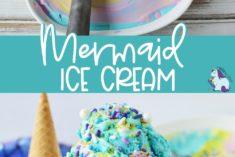 Mermaid colors ice cream