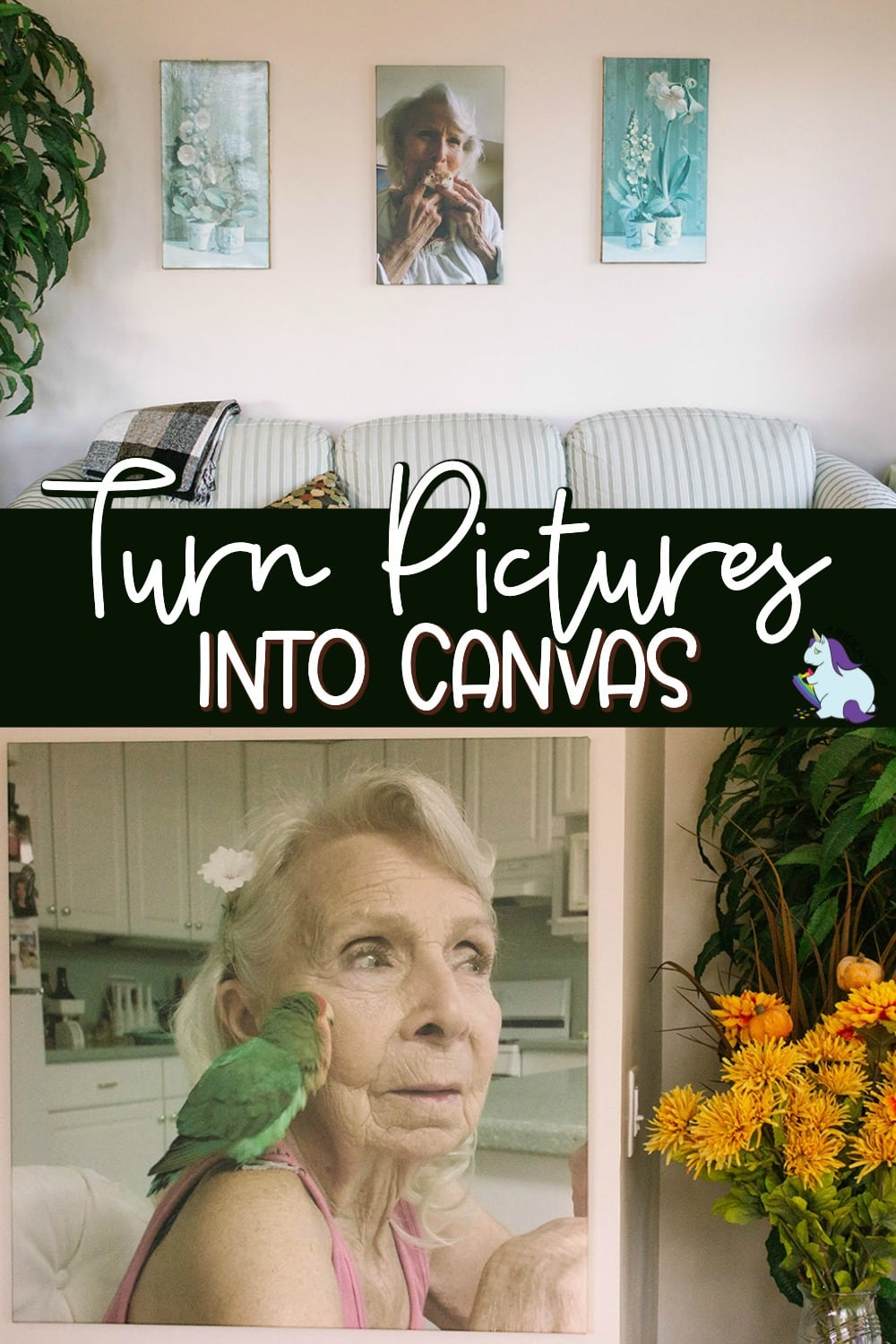 Canvas prints hanging as home decor