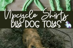 Turn old shirts into dog toys