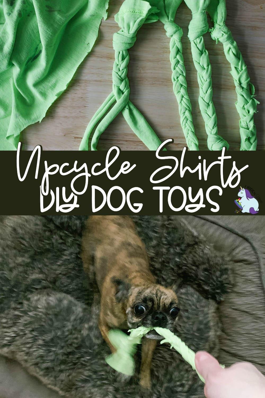 Turn old shirts into dog toys