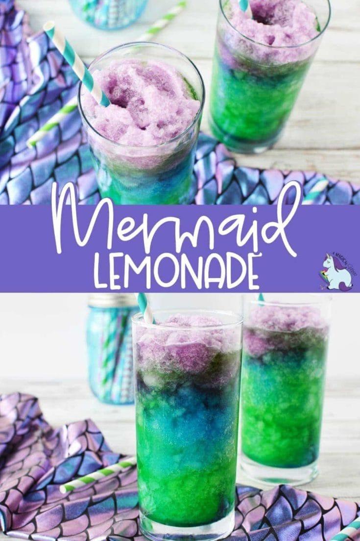 Mermaid lemonade icy drinks