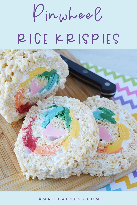 pinwheel rice krispies treats