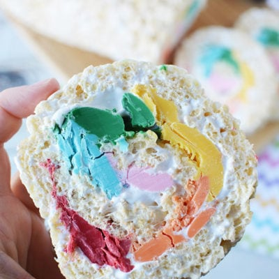 Rainbow Pinwheel Rice Krispies Treats Recipe