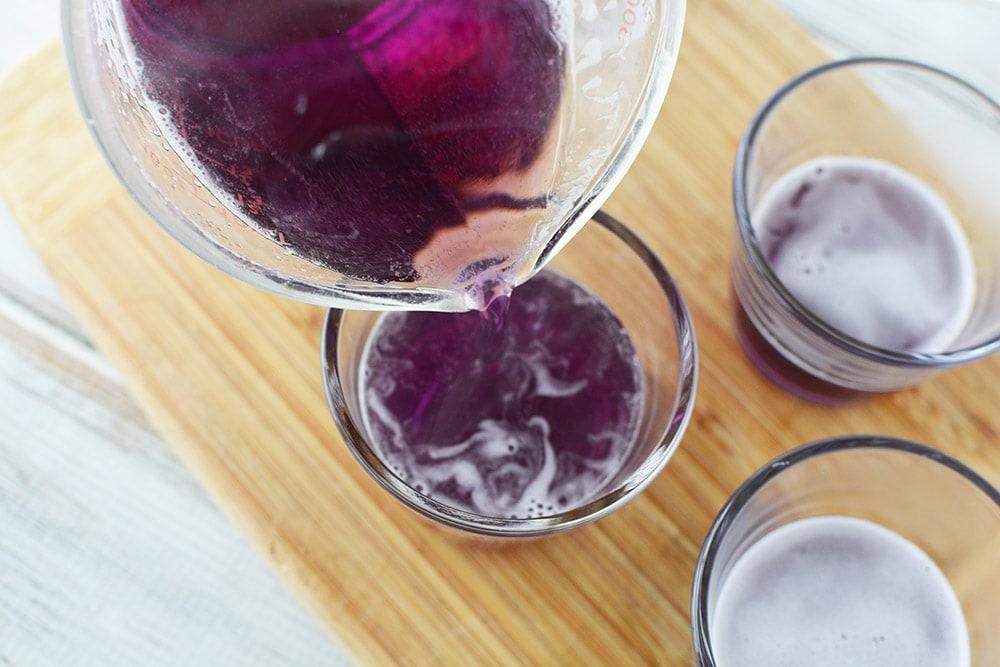 grape jello into cup