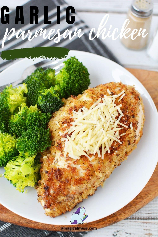 Garlic parmesan chicken dinner