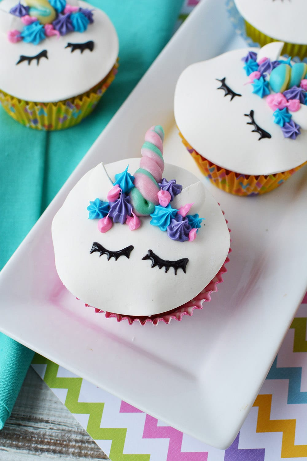 cute unicorn cupcakes with faces