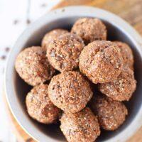 chocolate energy balls overhead shot